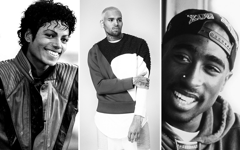 chris brown michael jackson tupac
